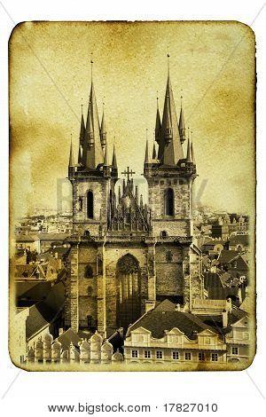 Church Of Virgin Maria Before Tyn In Prague