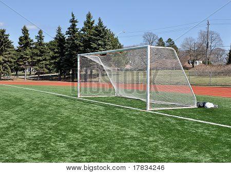 Postes de la meta de fútbol