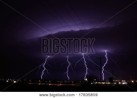 thunderstorm with lightning