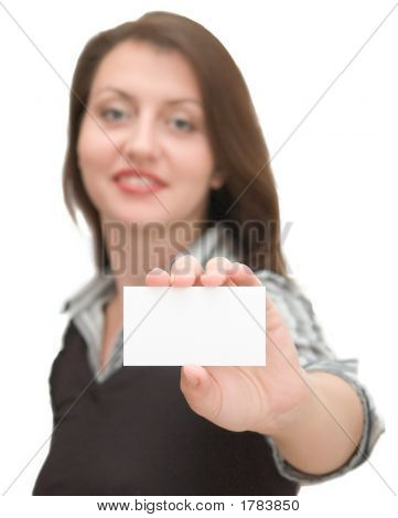 Woman With Card