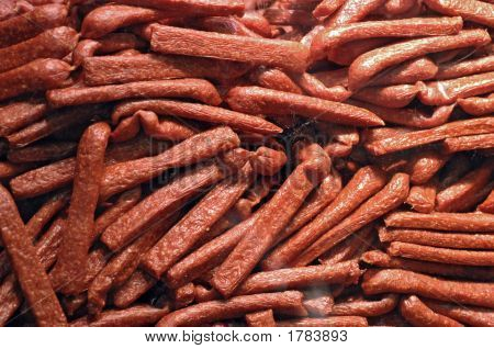 lot of sausages