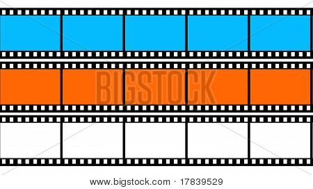 Colored 3d blank films texture