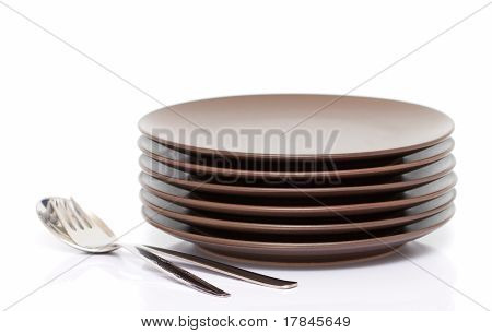 Plates, Fork, Spoon