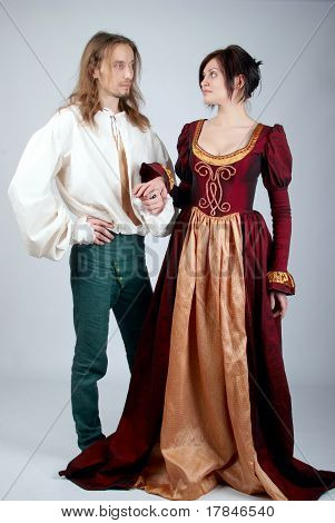 Beautiful Couple Of Medieval Costumes