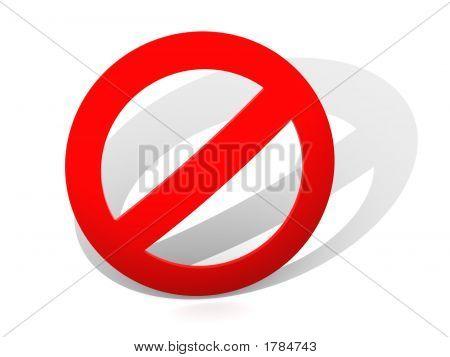 Sign. Interdiction. 3D