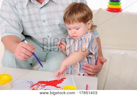 Großvater und sein Enkel