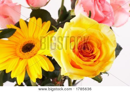 Yellow Rose In A Beautiful Bouquet