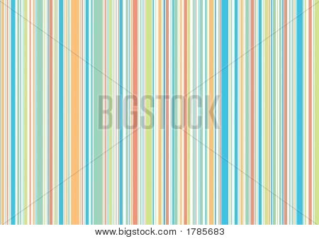 Pastel Retro Beach Holiday Stripes