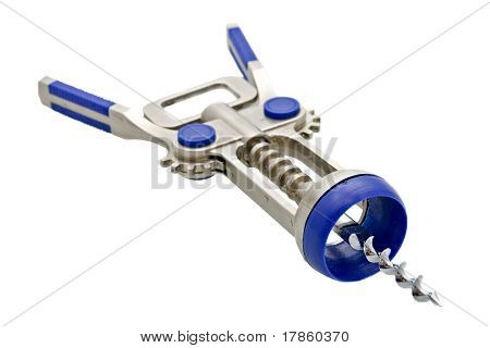 Cork Screw, Isolated Over White