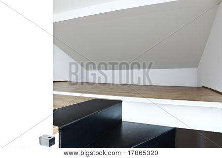 beautiful modern apartment, loft duplex , stairs detail