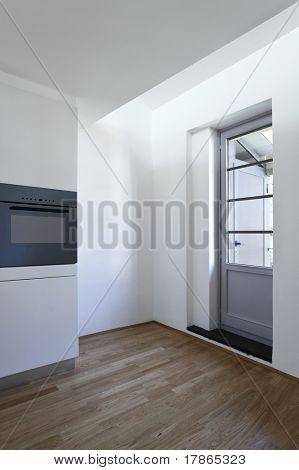 beautiful loft duplex, interior, glass door