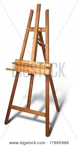 Nice Wooden easel with clipping path