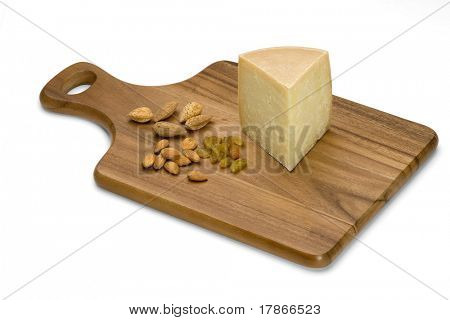 Goat cheese with almonds and raisins