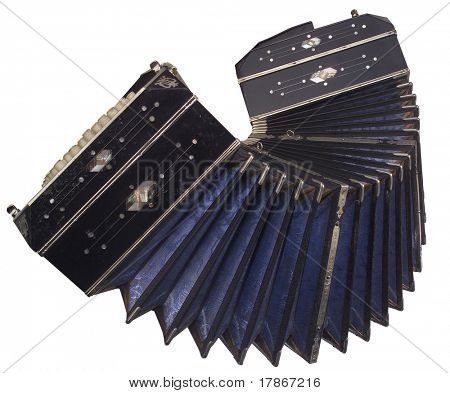 Old traditional and elegant accordion