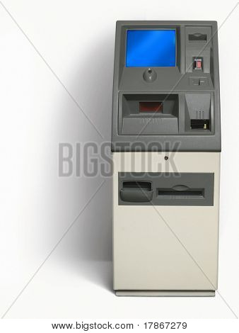 Isolated cash - atm machine, with white background