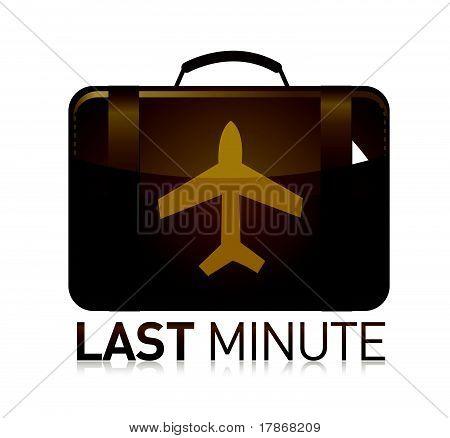 last minute luggage airplane illustration