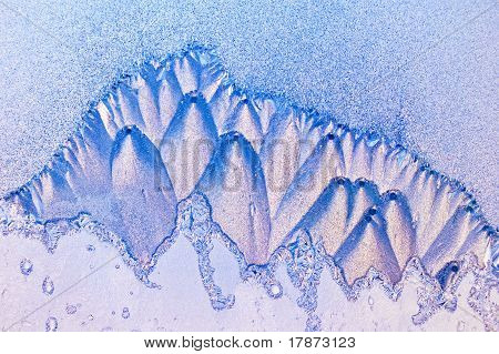 Frosty Pattern In The Mountains