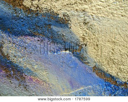 Textured Concrete Wall With Colour