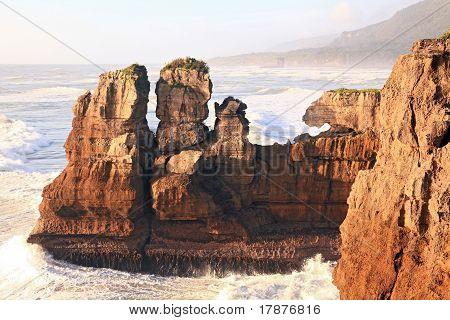 Pancake Rock In New Zealand