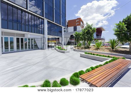 Forecourt Of Modern Corporate Building