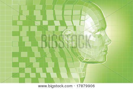 Futuristic Avatar  Polygon Mesh Background