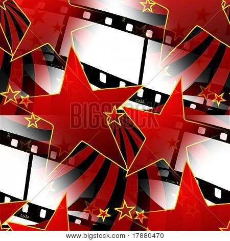 Estrelas sem costura e Design de tiras de filme