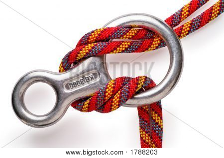 Mountaineering: Figure 8 Aluminium Descender With Double Rope