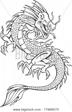 Vector Illustration of Dragon