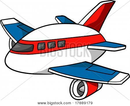 Jumbo Jet Vector Illustration