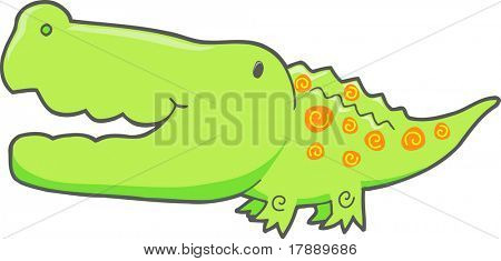 Crocodile Vector Elements