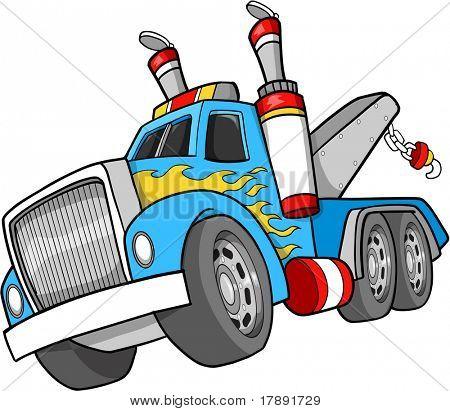 Ilustración de Vector de camiones de remolque