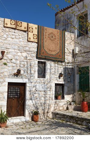 Old traditional house at Areopoli of Mani in Greece