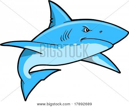 Blue Shark Vector Illustration
