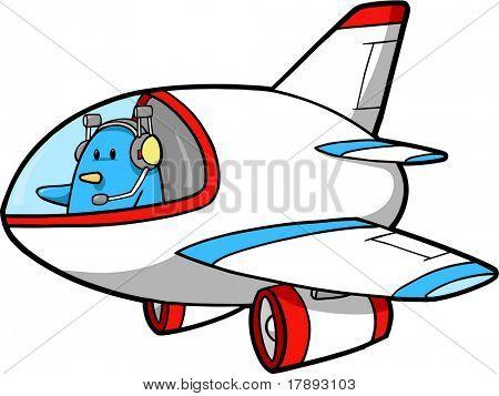 Ilustración de Vector de jet