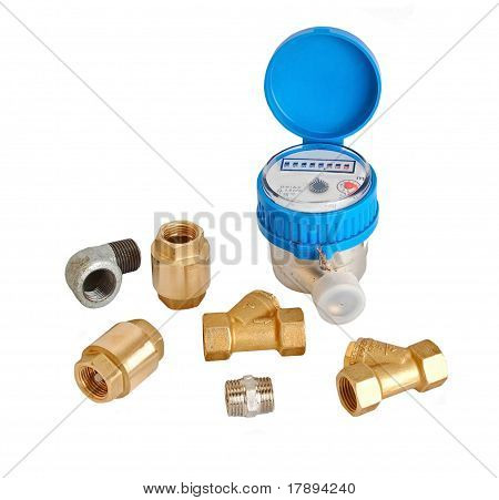 Water meter and inlet valve