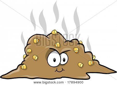 Turd Poop Vector Illustration