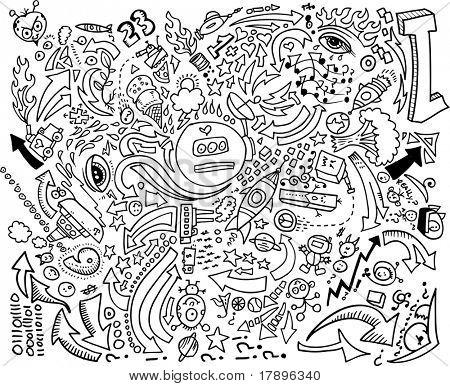 Doodle Sketch dibujo vectorial