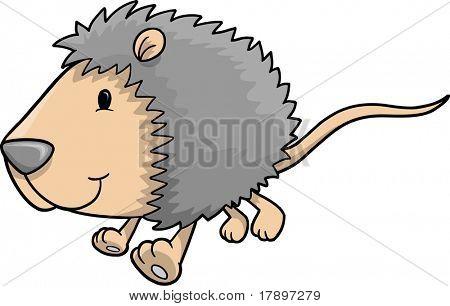 Cute Possum Vector Illustration