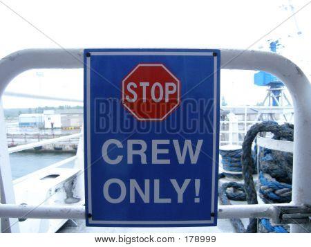 Crew Sign