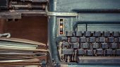 Typewriter Antique Vintage Style And Old Documents poster