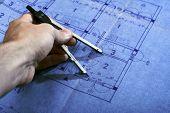 Architecture Blueprint Plan poster