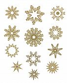 Snowflake Design Collection In Gold