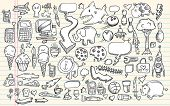 picture of gator  - Notebook Doodle Clip art Design Elements Mega Vector Illustration Set - JPG