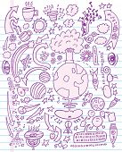 picture of nuke  - Doodle Sketch Vector Illustration - JPG
