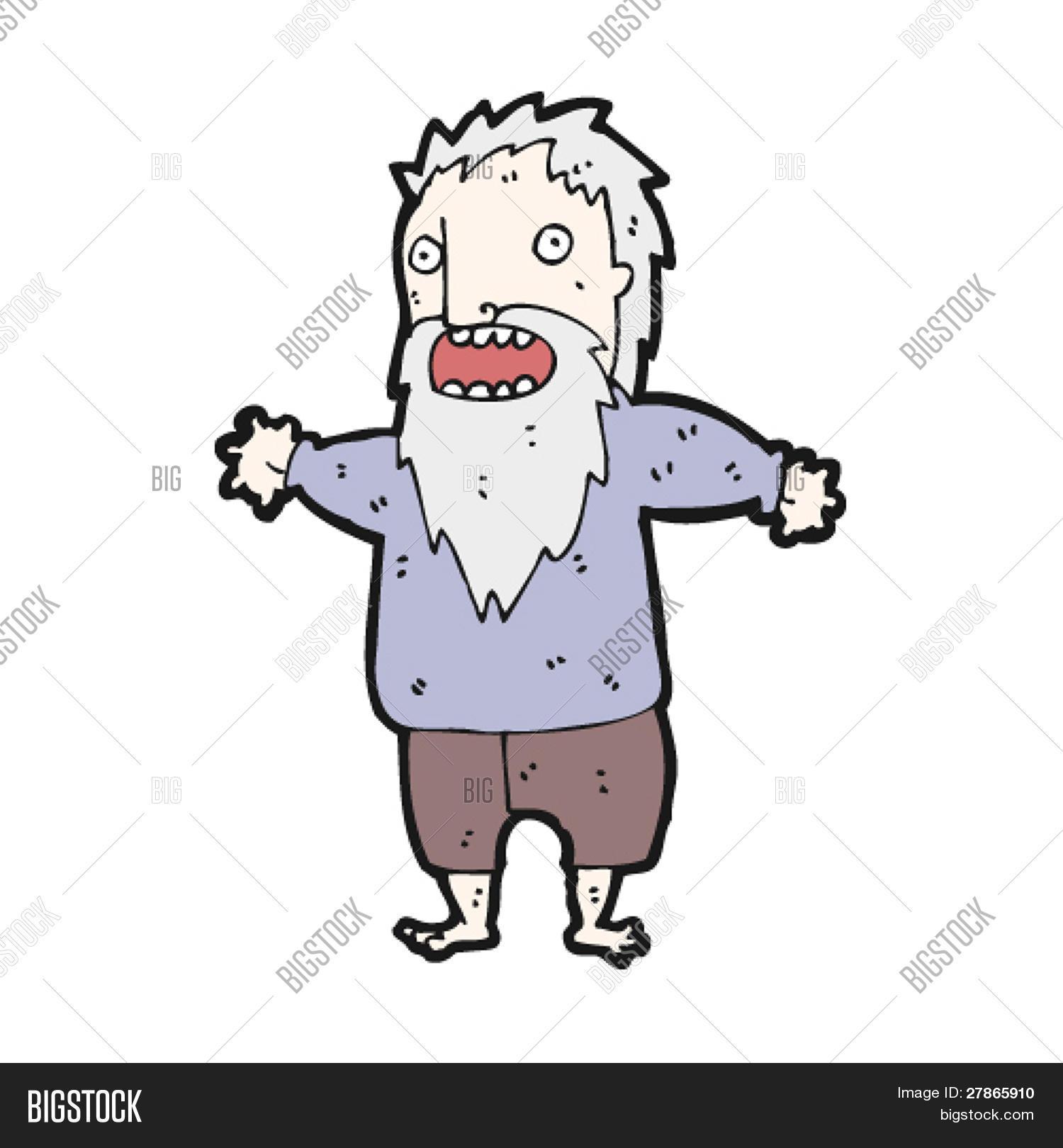 Vector y foto Dibujos Animados De Hombre Viejo  Bigstock