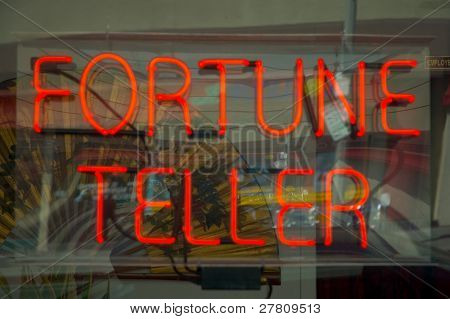 fortune tellers neon sign