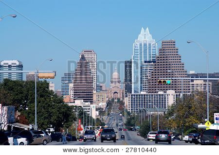 Downtown Austin Texas as seen from South Congress