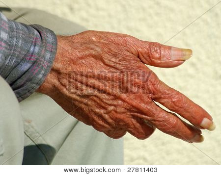 The hand of time