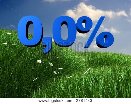Meadow And Percent Sign
