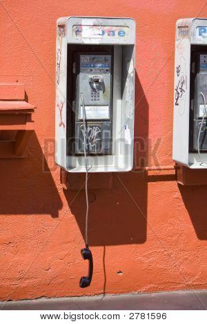 Vandalized Payphone